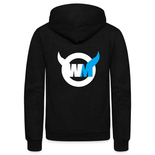 WTFMoses Logo white/blue - Unisex Fleece Zip Hoodie