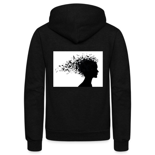 music through my head - Unisex Fleece Zip Hoodie