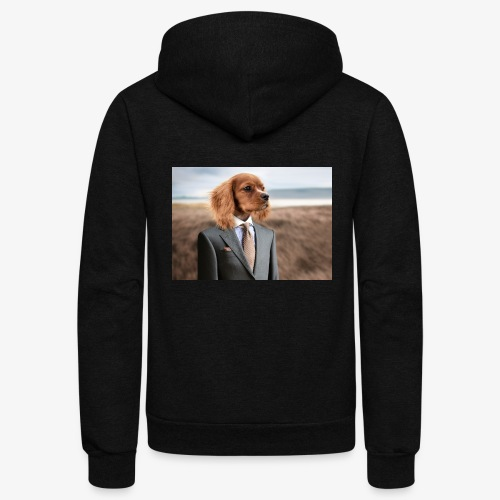 Funny Dog - Unisex Fleece Zip Hoodie