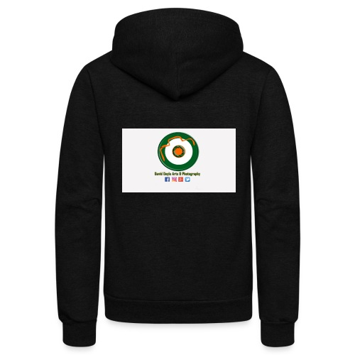 David Doyle Arts & Photography Logo - Unisex Fleece Zip Hoodie