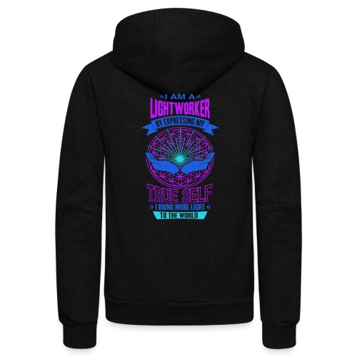 I am Lightworker - Unisex Fleece Zip Hoodie