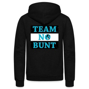 Team No Bunt - Unisex Fleece Zip Hoodie by American Apparel