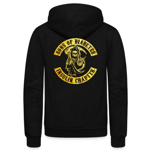 Sons Of Diabetes - Unisex Fleece Zip Hoodie