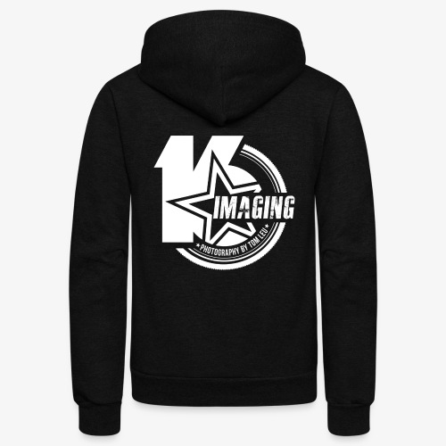 16IMAGING Badge White - Unisex Fleece Zip Hoodie