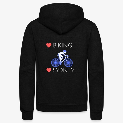 Love Biking Love Sydney tee shirts - Unisex Fleece Zip Hoodie