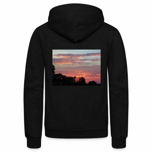 Sunset of Pastels - Unisex Fleece Zip Hoodie