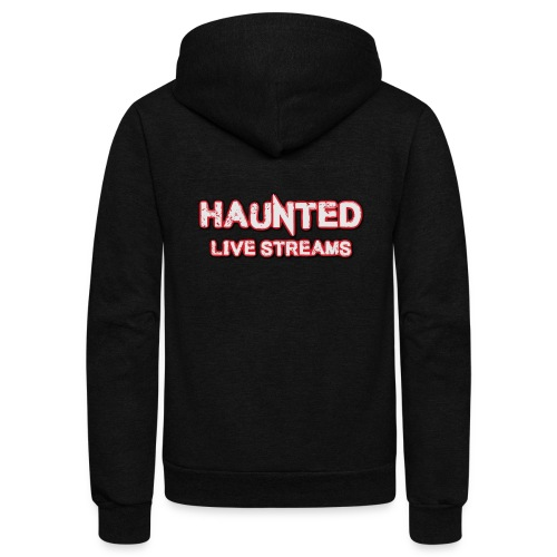 Official Haunted Live Streams Logo - Unisex Fleece Zip Hoodie