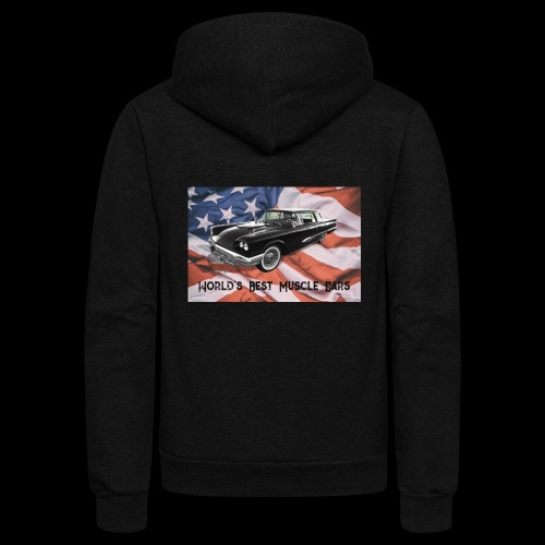 World's Best Muscle Cars - Unisex Fleece Zip Hoodie