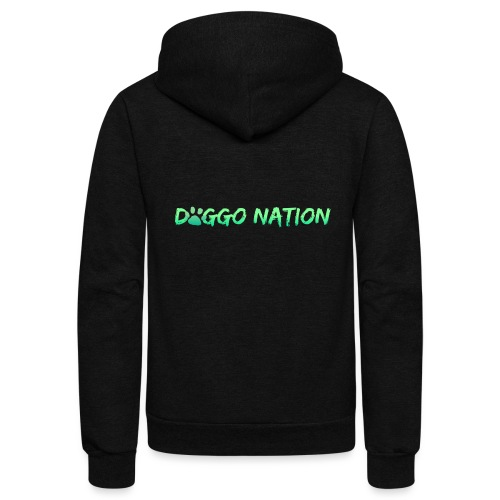 DoggoNation Logo - Unisex Fleece Zip Hoodie