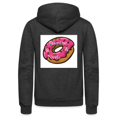 A cute donut W/ our channel name - Unisex Fleece Zip Hoodie