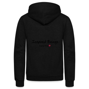 Inspired Beings - Unisex Fleece Zip Hoodie by American Apparel