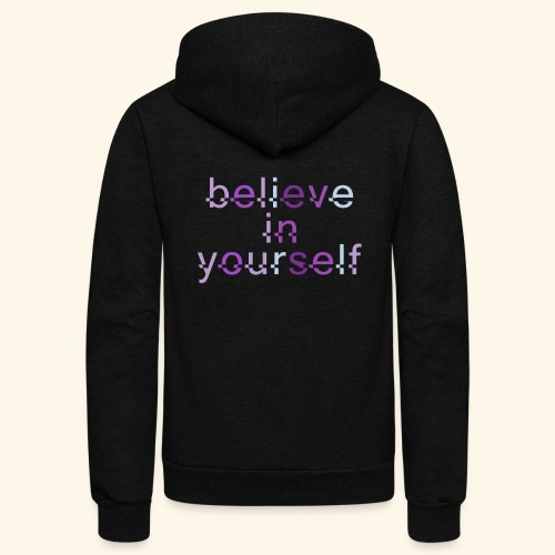 BELIEVE IN YOURSELF M PURPLE #4 - Unisex Fleece Zip Hoodie