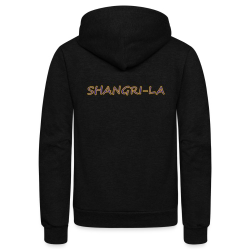 Shangri La gold blue - Unisex Fleece Zip Hoodie