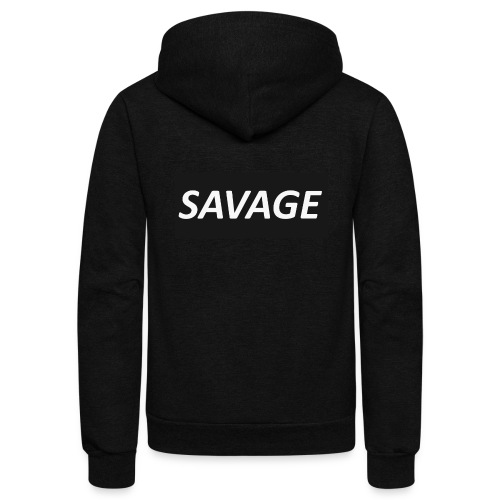 SAVAGE SHIRT - Unisex Fleece Zip Hoodie