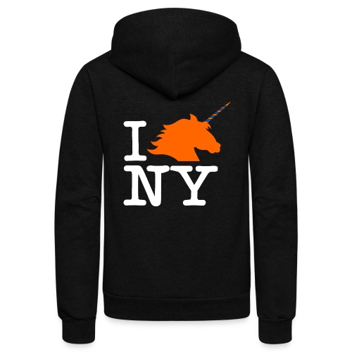 I Unicorn New York (Kristaps Porzingis) - Unisex Fleece Zip Hoodie