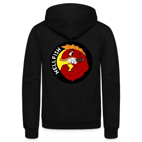 Hellfish - Flying Hellfish - Unisex Fleece Zip Hoodie