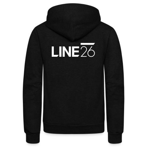Line26 Logo (Light Version) - Unisex Fleece Zip Hoodie