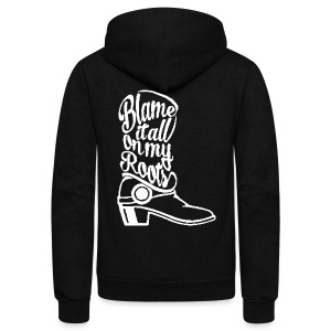 Blame it on the boots - Unisex Fleece Zip Hoodie by American Apparel