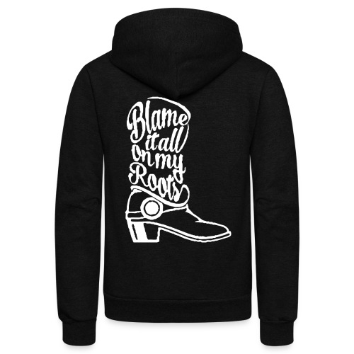 Blame it on the boots - Unisex Fleece Zip Hoodie