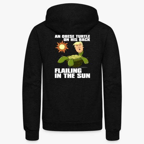 An Obese Turtle on His Back Flailing in the Sun - Unisex Fleece Zip Hoodie