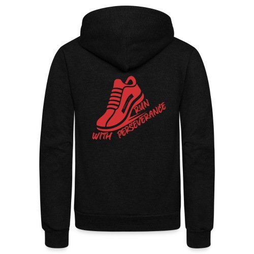 Run with perseverance - Unisex Fleece Zip Hoodie
