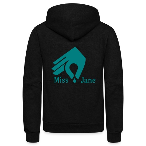 Miss Jane Seed - Teal - Unisex Fleece Zip Hoodie