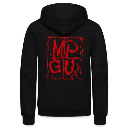 MPGU RED STROKE - Unisex Fleece Zip Hoodie