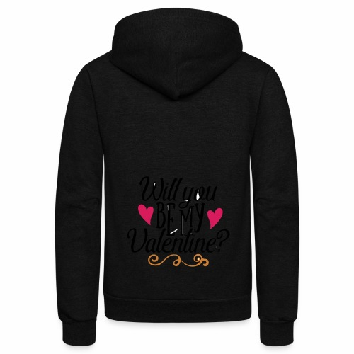 Will You be my Valentine? - Unisex Fleece Zip Hoodie
