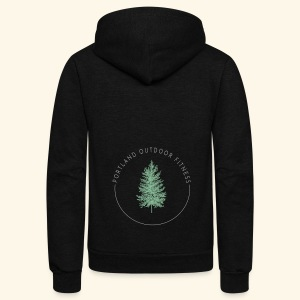 Circle Logo Bolded - Unisex Fleece Zip Hoodie