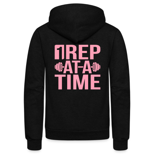 1Rep at a Time - Unisex Fleece Zip Hoodie