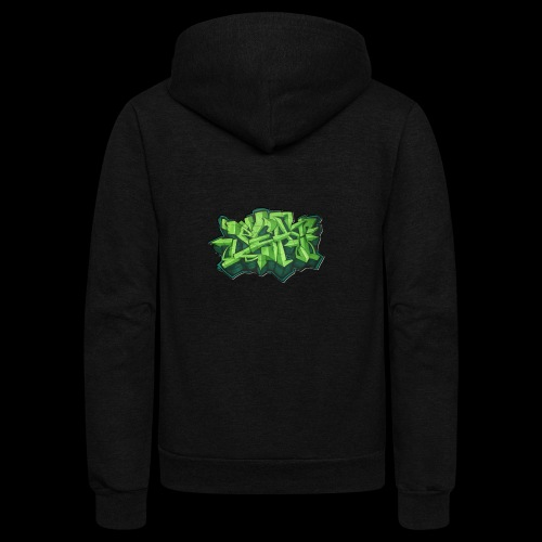 By Beats Green - Unisex Fleece Zip Hoodie