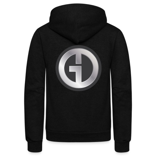 Gristwood Design Logo (No Text) For Dark Fabric - Unisex Fleece Zip Hoodie