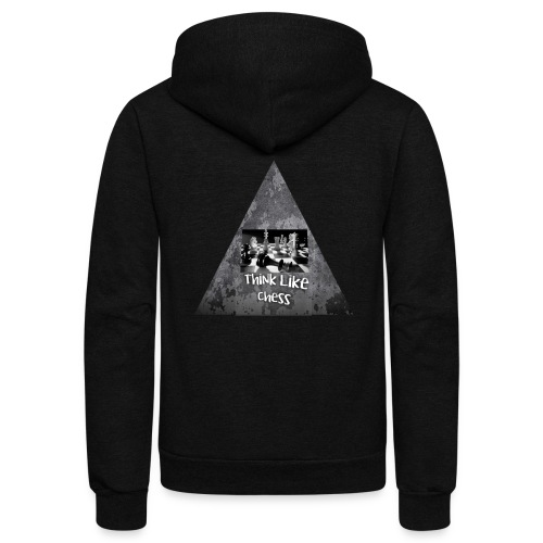 Think Like Chess Logo - Unisex Fleece Zip Hoodie