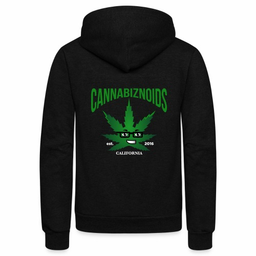Cannabiznoids Logo with Text - Unisex Fleece Zip Hoodie