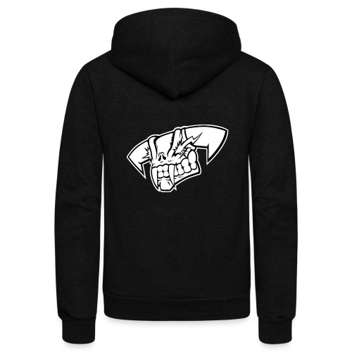 Tension Skull Black and White - Unisex Fleece Zip Hoodie
