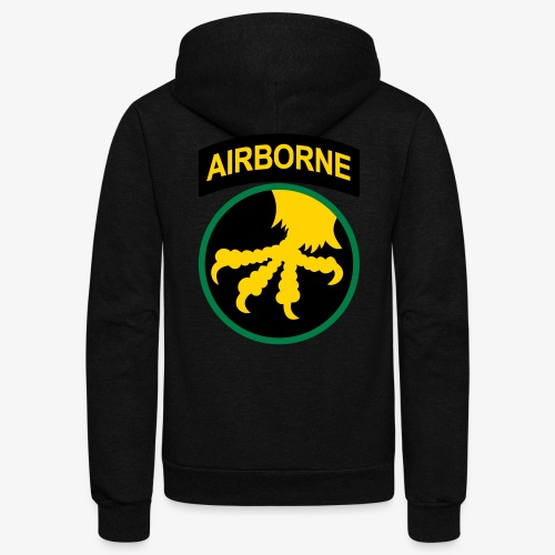 17th Airborne division - Unisex Fleece Zip Hoodie
