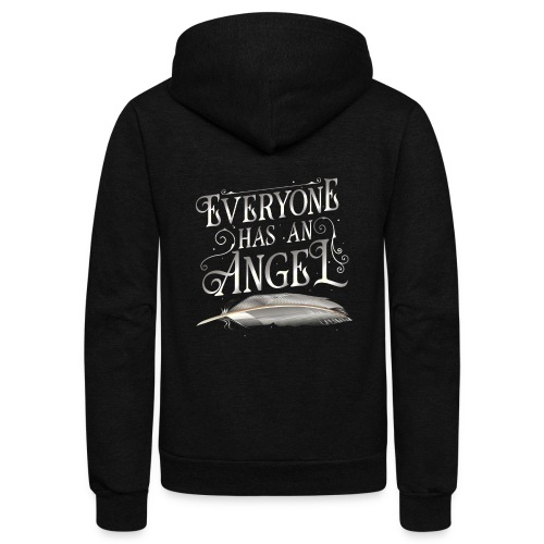 Everyone has an Angel - Unisex Fleece Zip Hoodie