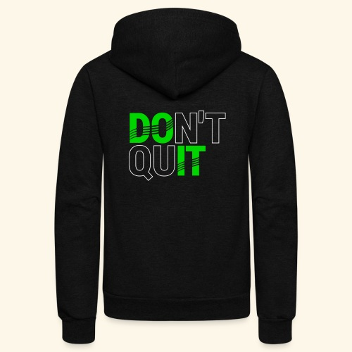 DON'T QUIT #4 - Unisex Fleece Zip Hoodie