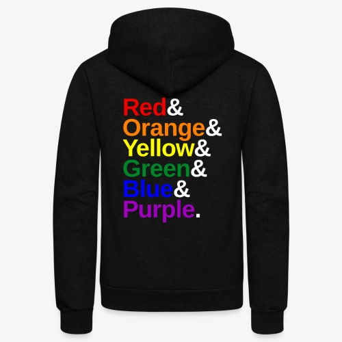 LGBTQ Color List - Unisex Fleece Zip Hoodie