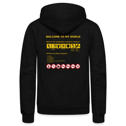 Meniere's Desease MD - Unisex Fleece Zip Hoodie