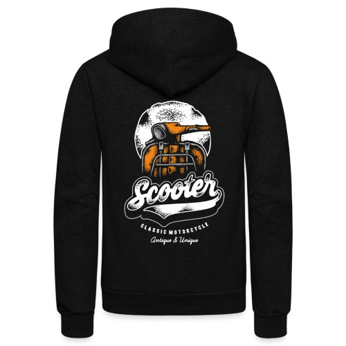 scooter - Unisex Fleece Zip Hoodie