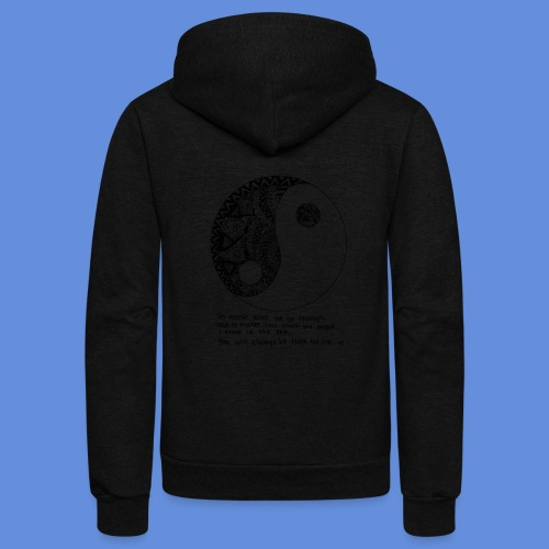 Yin Yang with quote - Unisex Fleece Zip Hoodie
