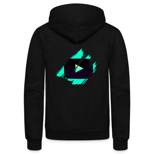 DRFT Clothing: Cyan Youtube is Life - Unisex Fleece Zip Hoodie