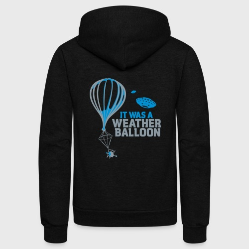 Weather Balloon UFO - Unisex Fleece Zip Hoodie