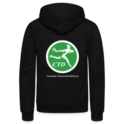 Cannabis Transworld Delivery - Green-White - Unisex Fleece Zip Hoodie