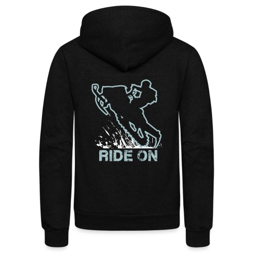 Snowmobile Ride On Sled - Unisex Fleece Zip Hoodie