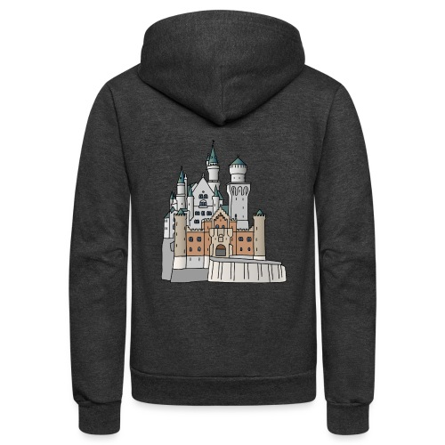 Neuschwanstein Castle, Bavaria - Unisex Fleece Zip Hoodie