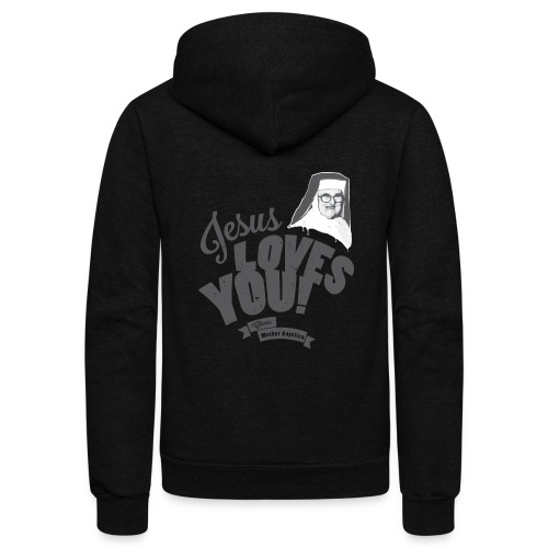 Classic Mother Angelica Dark - Unisex Fleece Zip Hoodie
