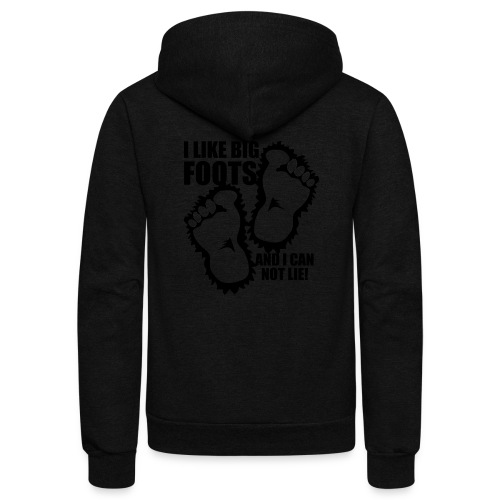 BIG FOOTS don't lie - Unisex Fleece Zip Hoodie