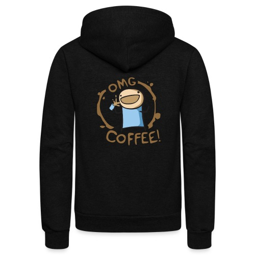 OMG COFFEE - Unisex Fleece Zip Hoodie